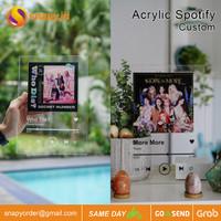 Acrylic Spotify Custom | Pajangan Akrilik Musik Custom