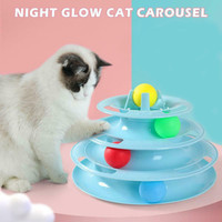 Mainan Kucing Interaktif 4 Tingkat Bola Cat Kitten Interactive Toys