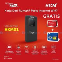 Modem Mifi HKM001 TELKOMSEL 4G LTE UNLOCK - BYPASS - Hitam