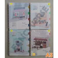 Notebook Spiral A5 Cafe WZ-12925-18 / Agenda Diary Notes Buku Catatan