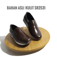 Favorit (8) Sepatu Sneakers Pria Giovane Kulit Asli F2531coklat