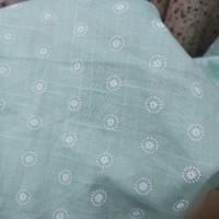 kain linen motif/katun linen slub bahan atasan kemeja dress