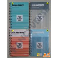 Notebook Spiral A5 Stripe DF-2005 / Agenda Diary Notes Buku Catatan