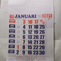 kalender angka//kalender kerja 2021 standar 38x54 cm