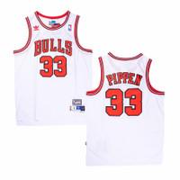 Baju Jersey Basket Classic NBA Scottie Pippen Chicago Bulls Putih