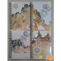 Notebook Spiral A5 Vintage DF-2003 / Agenda Diary Notes Buku Catatan