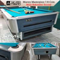 Murrey 7-ft Coin Second Rekondisi Blue Meja Bekas Billiard Table Biru