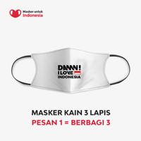 Masker Kain 3 Lapis (3 Ply) Earloop - DAMN I LOVE INDONESIA Signature