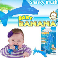 Baby sharky teether bayi warna biru