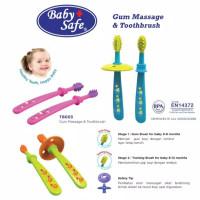 Baby safe Gun massage n toothbrush TB003 sikat gigi bayi