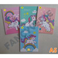 Notebook Spiral A5 Unicorn HA32-8296 / Agenda Diary Notes Buku Catatan
