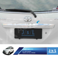 JSL Cover Lis Bagasi All New Avanza Trunk Lid Patch Full Chrome