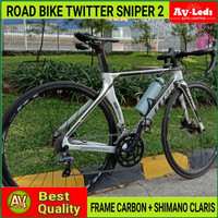 ROAD BIKE TWITTER SNIPER 2 CARBON SHIMANO CLARIS R2000 16 SPEED