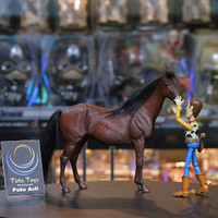 JXK KUDA SKALA 1:12 HORSE BY HANNOVER WARNA B COKLAT TUA