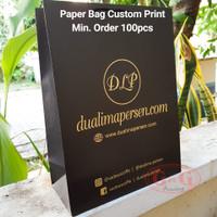 26x12x34 Custom Print Paper Bag Hitam/Shopping Bag Custom Print