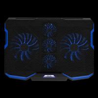 Cooler Cooling Pad Kipas Pendingin Laptop Gaming Macbook Stand 5 Fan - LED Biru