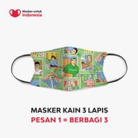 Masker Kain 3 Lapis (3 Ply) Earloop - Desain oleh Tokopedia
