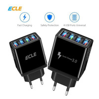 ECLE Adaptor Charger Fast-Charging 4 port USB Led 3A QC3.0 EAC606