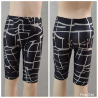 celana renang atlet swimwear/swimming trunks on par with the arena - Motif Garis Abu, XS