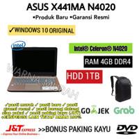 LAPTOP ASUS X441MA INTEL N4020 HDD 1TB-LAYAR 14INCH- DVD RW-RAM 4GB-