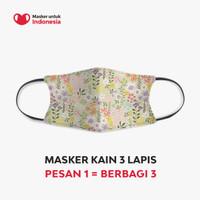 Masker Kain 3 Lapis (3 Ply) Earloop - Desain oleh Ditut
