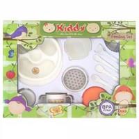 Feeding Set Kiddy + Baby Food Maker / Peralatan Makan Bayi MPASI
