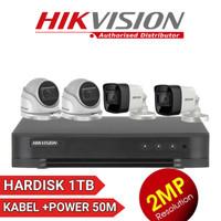PAKET CCTV 4ch 2MP HIKVISION 4CAMERA FULL HD KOMPLIT TINGGAL PASANG