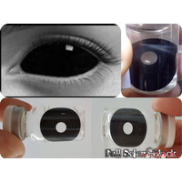 FULL EYE SCELERA SCLERA SOFTLENS HALLOWEEN BLACK UNIK