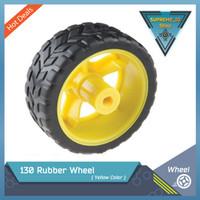 130 Rubber Wheel Tires for DC Motor (Roda Robotic Toy Car Accesories)