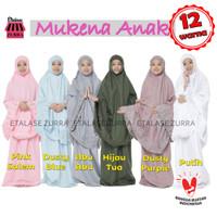 Mukena Anak Siti Khadijah Bahan Katun Premium, Renda - Dusty Blue