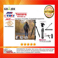 Paket Takara Rover 66 Ball Head Tripod Monopod 2-in1 With T-054 TAS