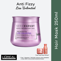 [ECERAN] Serie Expert Liss Unlimited Hair Mask 250ml LOREAL