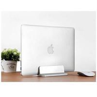 Dudukan Laptop Vertikal Berdiri Stand Laptop Holder Alumunium Macbook