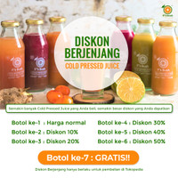 Promo berjenjang / Cold press juice / Jus detox