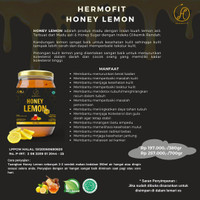 HERMOFIT Honey Lemon Madu Asli Menghaluskan Mencerahkan Kulit Detox