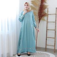 Fashion Baju Gamis Dress Syari Tunik Blouse Zela Maxi Bordir