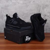 SEPATU Nike Air Jordan 4 Retro Full Triple Black Hitam