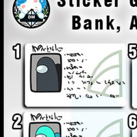 Sticker Pelindung Skin Garskin Among Us Kartu ATM E money toll Card - 1-hitam