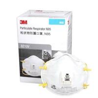 3M Masker N95 - 8210v Particulate Respirator - 1 Box [10 Masker]
