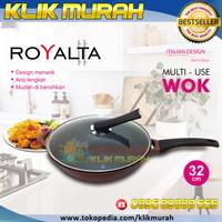 Royalta Wok 32 cm Wajan Handle anti panas | Panci Kuali