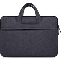 Tas Laptop 14 inch Macbook Softcase Nylon Jinjing Waterproof-Darkgrey