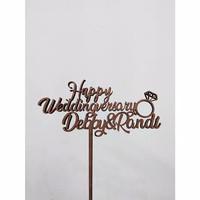Topper Cake Custom Nama Wedding Anniversary