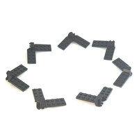 Lego Part Hinge Plate 2 x 5 With Articulated Joint Black Original