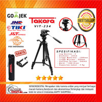 Tripod Takara Video VIT-234 LightWeight DSLR Mirrorless free holder hp