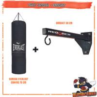 PAKET Samsak 70cm + Gantungan Redback 50cm - Sansak Tinju Muay Thai