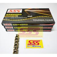 RANTAI SSS 520 GOLD RO O-RING 120 130L: CBR250RR R25 MT25 KLX250 ER6 - 120 LINK