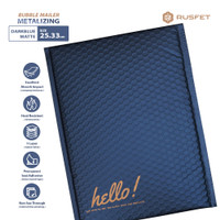 Amplop Bubble Mailer 25cmX33cm Bubble Bag Bubble Polymailer METALIZING - Dark Blue