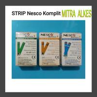 Strip nesco paket - gula darah asam urat colestrol / refil nesco