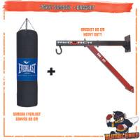 Paket Samsak Tinju Canvas 80cm Plus Gantungan Bracket 60HD - Sansak