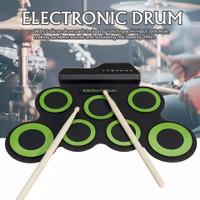 Portable Electronic Drum Digital USB 7 Pads Set Electric Drum Pad Kit